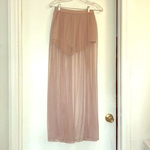 Forever 21 Sheer Mesh Maxi Skirt w/attached Shorts